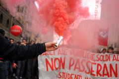Italian School Strike 12 March 2010 Stock Photos