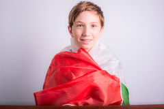 Italian schoolboy Stock Photo