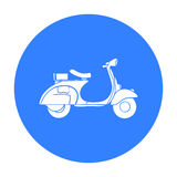 Italian scooter from Italy icon in black style isolated on white background. Italy country symbol stock vector Royalty Free Stock Photo