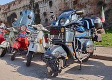 Italian scooters Vespa Stock Image
