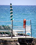Italian sea. A detail of a beach in italian riviera Stock Photo