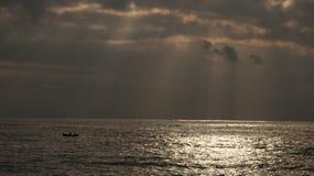 Italian sea and boat Royalty Free Stock Photo