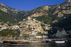 Italian sea coast, positano, naples. Meditarranean scene stock image