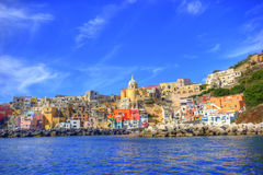 Italian sea coast, procida, naples Stock Photo