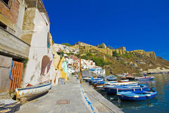 Italian sea coast, procida, naples Stock Photography