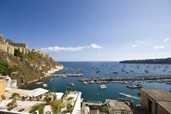 Italian sea coast, procida, naples. Meditarranean scene stock images