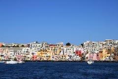 Italian sea coast, procida, naples. Meditarranean scene stock image
