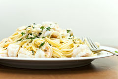 Italian Seafood Pasta Stock Photo