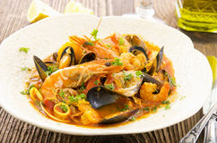 Italian Seafood Soup Cioppino Royalty Free Stock Photo