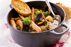 Italian Seafood Soup Cioppino Royalty Free Stock Image