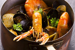 Italian Seafood Soup Cioppino Stock Photos