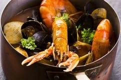 Italian Seafood Soup Cioppino Stock Photos