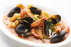 Italian seafood stew Stock Image