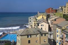 Italian seaside communities near Santa Margarita, the Italian Riviera, on the Mediterranean Sea, Italy, Europe Stock Images