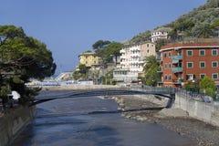 Italian seaside communities near Santa Margarita, the Italian Riviera, on the Mediterranean Sea, Italy, Europe Stock Photos