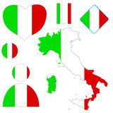 Italian set Royalty Free Stock Photography