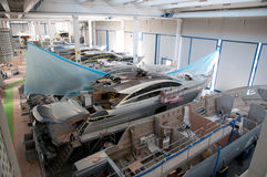 Italian shipyard Royalty Free Stock Photo