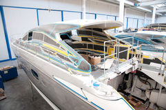 Italian shipyard Stock Photography