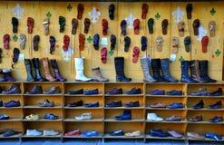 Italian shoe market Royalty Free Stock Photo