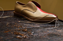 Italian shoes builing Stock Image
