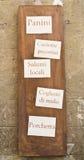 Italian shop sign homemade Royalty Free Stock Photo