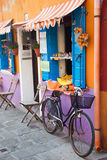 Italian shopping by bicycle Royalty Free Stock Photos