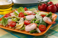 Italian Shrimp Salad Stock Photo