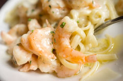 Italian Shrimp Scampi Royalty Free Stock Photography