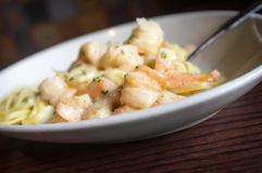 Italian Shrimp Scampi Stock Photos