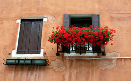 Italian shutter windows Stock Photo