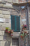 Italian shutters. Picture of front of a house in Lucca,Tuscany,Italy Royalty Free Stock Image