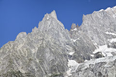 Italian side Mont Blanc summer landscape. Mont Blanc is the highest peak of european Western Alps. Stock Photography