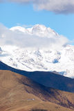 The italian side of Monte Rosa Massif Stock Photography