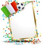 Italian signboard, soccer theme Stock Image