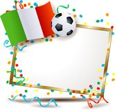 Italian signboard, soccer theme Royalty Free Stock Photos