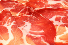 Italian sliced coppa pork prosciutto Royalty Free Stock Photos