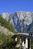 Italian Slovenian Border Area. The Slovenian side of the Italian Slovenian border near the start of the Mangrt road. This road crosses the Predelica Ali Royalty Free Stock Photography