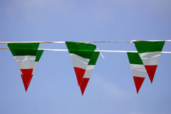 Italian small flags Royalty Free Stock Images