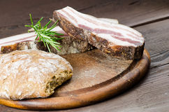 Italian smoked bacon Stock Images