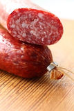 Italian smoked sausage Royalty Free Stock Photo