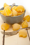 Italian snail lumaconi pasta Stock Photos