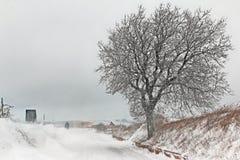 Italian snowy landscape Royalty Free Stock Photography