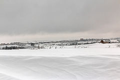 Italian snowy landscape Stock Photography