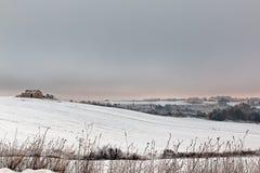 Italian snowy landscape Stock Photo