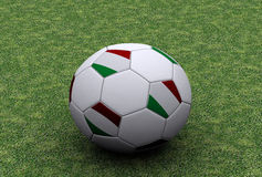 Italian soccer ball. 3D illustration - Italian flag with soccer ball Stock Photos