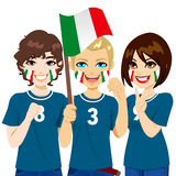 Italian Soccer Fans Royalty Free Stock Images