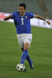 Italian soccer player with ball Royalty Free Stock Photos