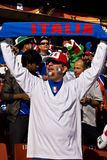 Italian Soccer Supporter - FIFA WC royalty free stock photography