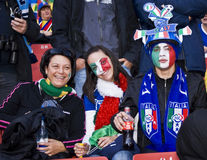 Italian Soccer Supporters - FIFA WC. Soccer fanatics, supporting Italy, show support for the team at the 2010 FIFA soccer world cup Royalty Free Stock Photography