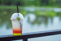 Italian soda cold Blur background river. Italian soda cold Blur background river , Thailand Stock Image